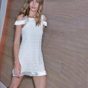 "ALEXIS ""Jasmine"" white embroidered dress M"